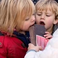 Kids met chocolade I amsterdam